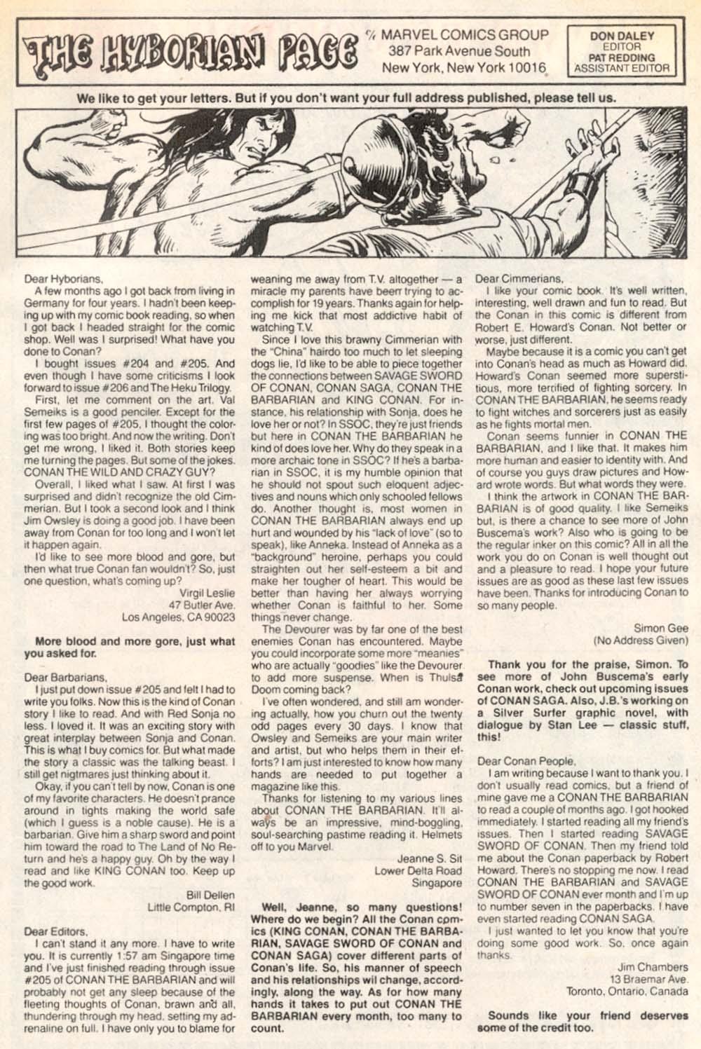 Conan the Barbarian (1970) Issue #209 #221 - English 24