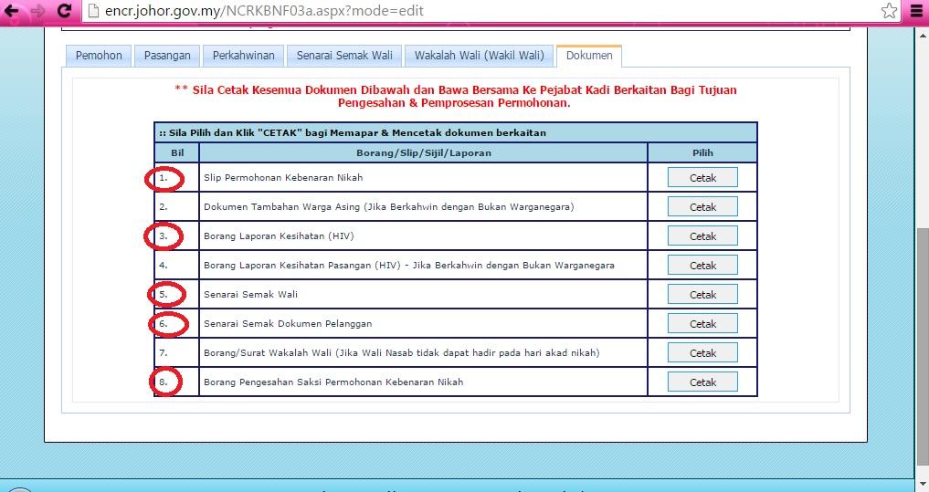Prosedur Permohonan Nikah Negeri Johor 2015 Online E Ncr Blog Cik Az