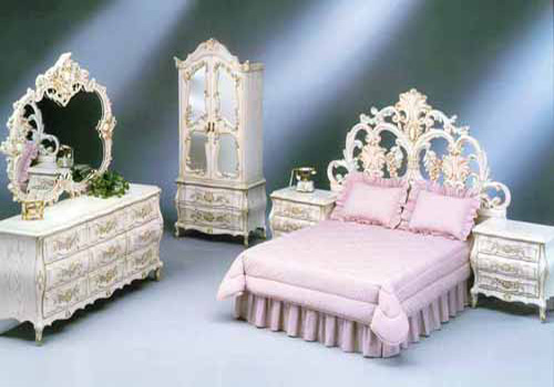 Luxury interior design for Princess style bedroom furniture