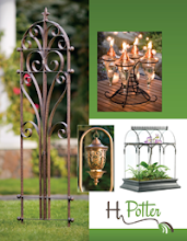 H. Potter's  Free catalog of garden decor, bird feeders & terrariums