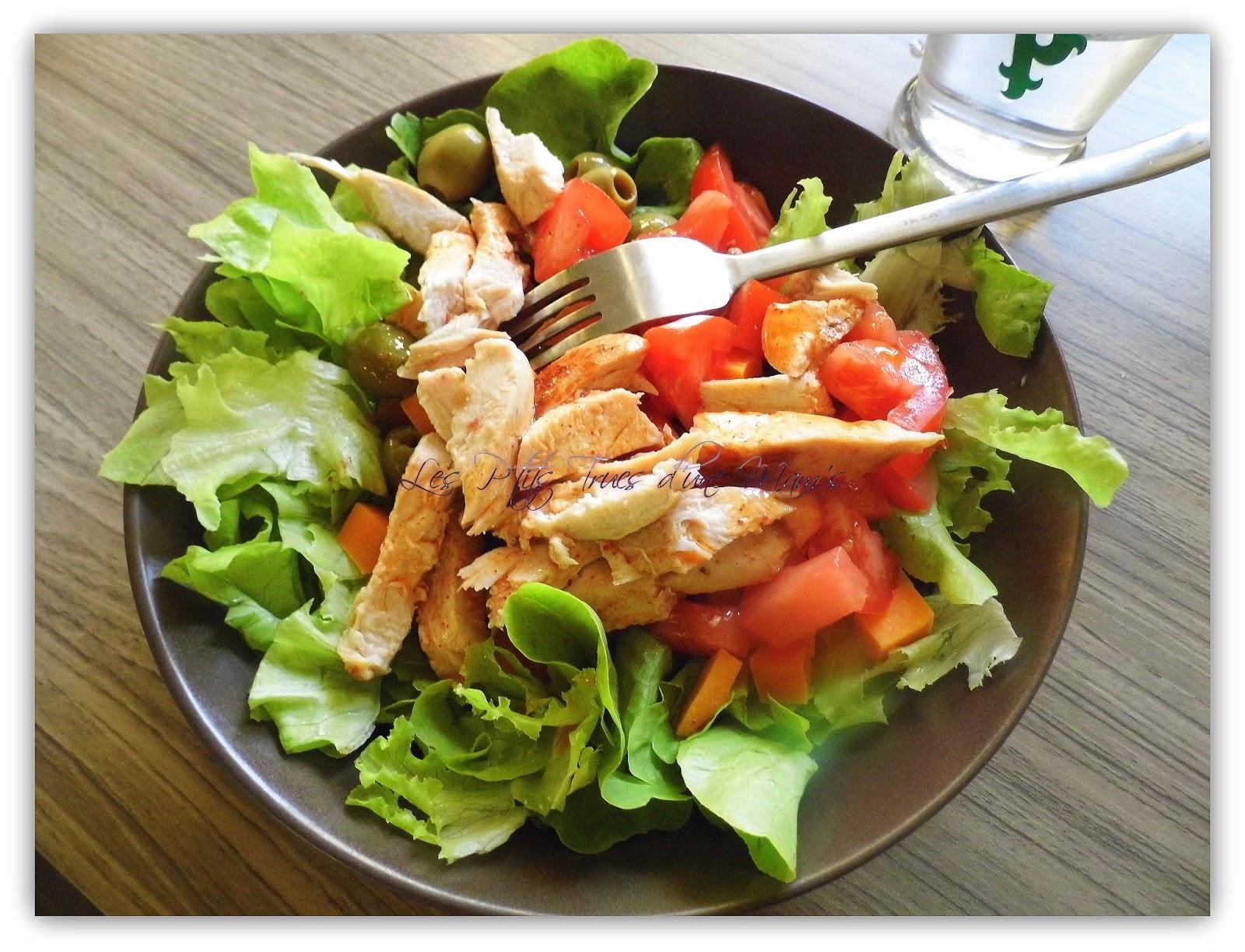 Les p 39 tits trucs d 39 une mam 39 s salade compos e au poulet - Salade verte composee ...