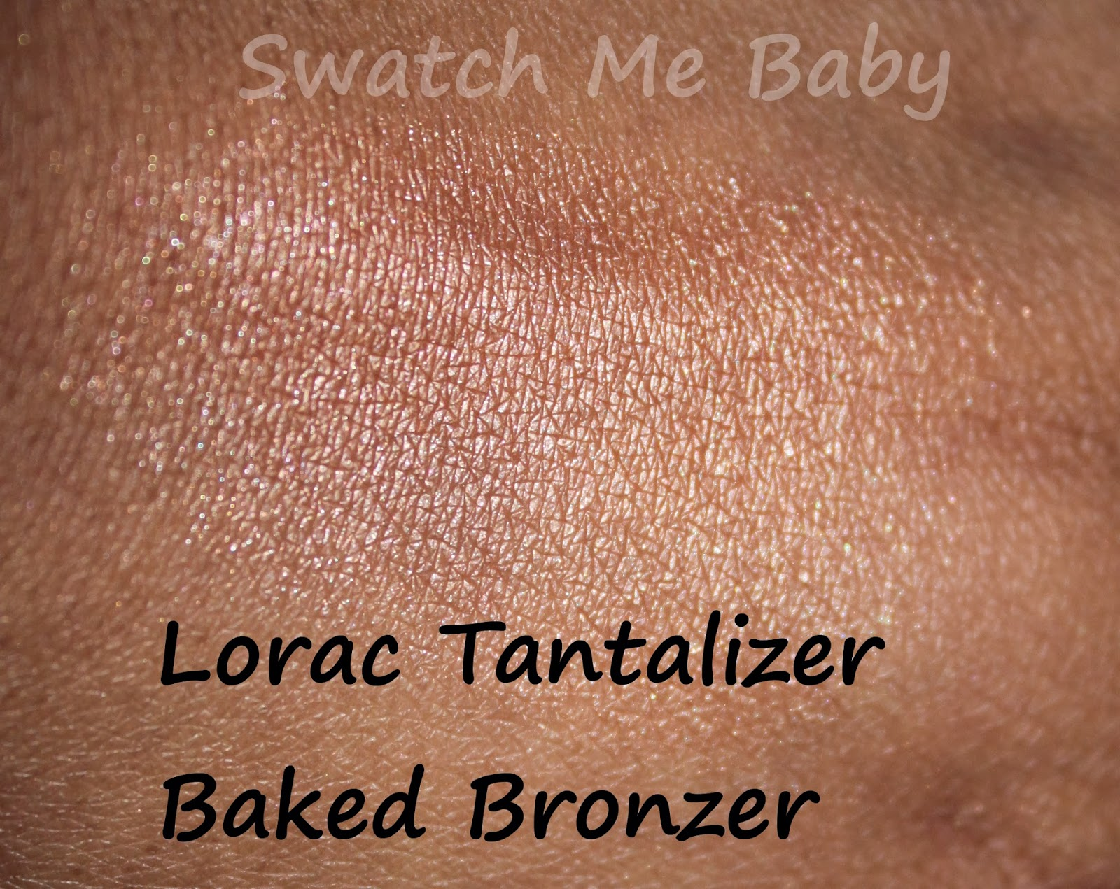 LORAC Travel-Size Tantalizer Baked Bronzer Swatch dark skin