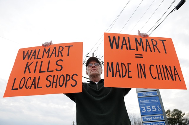 """essays on wal-mart effect 1) read the article in this folder title """"fishman (2006) – wal-mart effect"""" 2) summarize the article, and provide your perspective specifically, a) highlight the main points, including an overview of both the positive and negative aspects."""