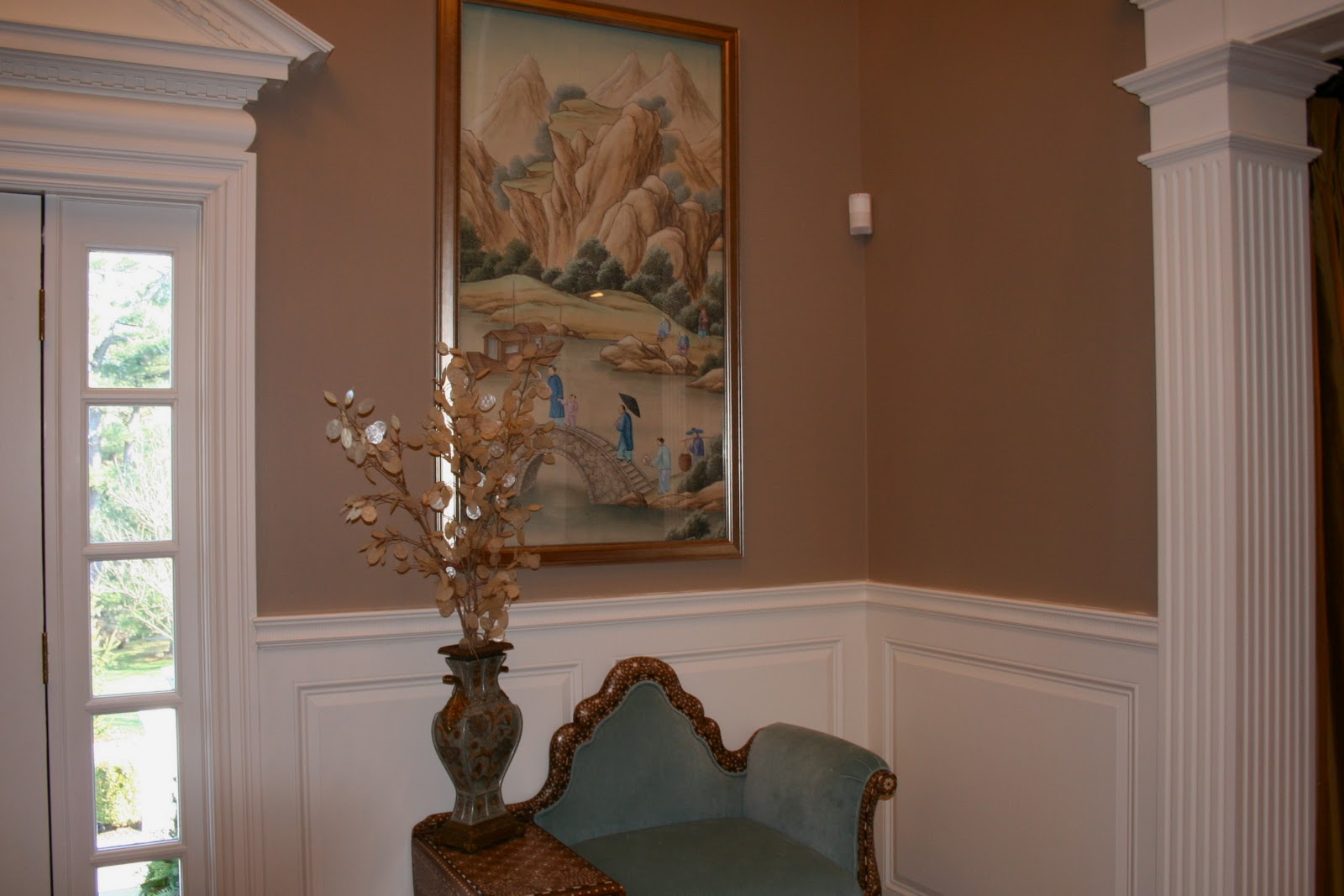 Benjamin moore paint san diego - Walls Bm Alexandria Beige 50 Formula Hc 77 Trim Woodwork Bm White Dove Oc 17