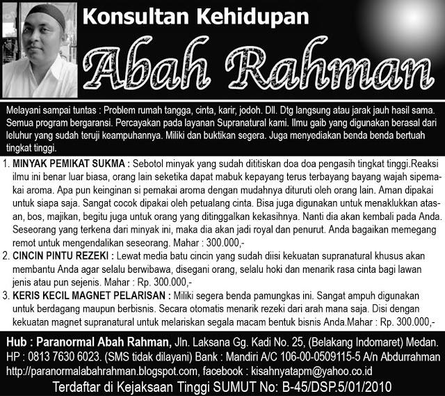 Paranormal Abah Rahman
