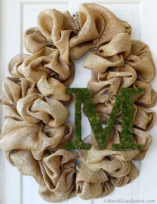 Decorative Letters, Moss Sheet, Tutorials, Moss Crafts, Natural Decor Crafts, Burlap