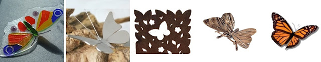 glazen vlinder, RVS vlinder, vlinder cortenstaal