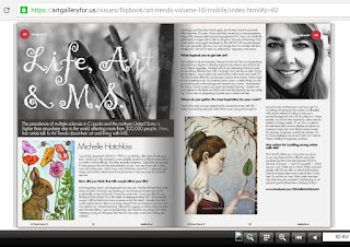 PUBLISHED!  ART TRENDS MAGAZINE