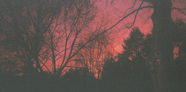 a very red sunset for Lammas