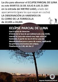 Observación eclipse parcial de luna