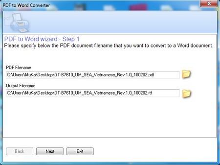 Trích xuất nội dung và chuyển đổi từ PDF sang Word