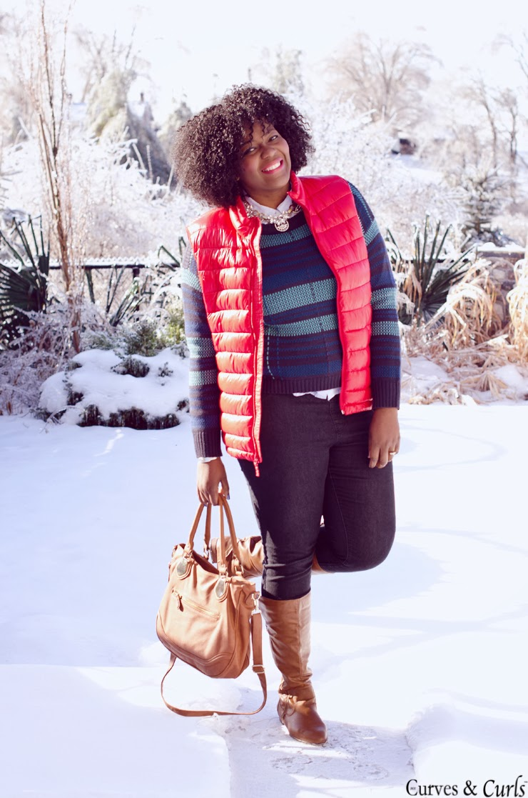 women's puffer vest -#oldnavy #plussize #red