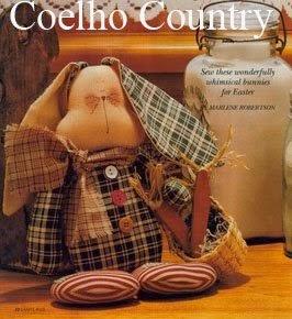 Coelho com tecido xadrez para páscoa