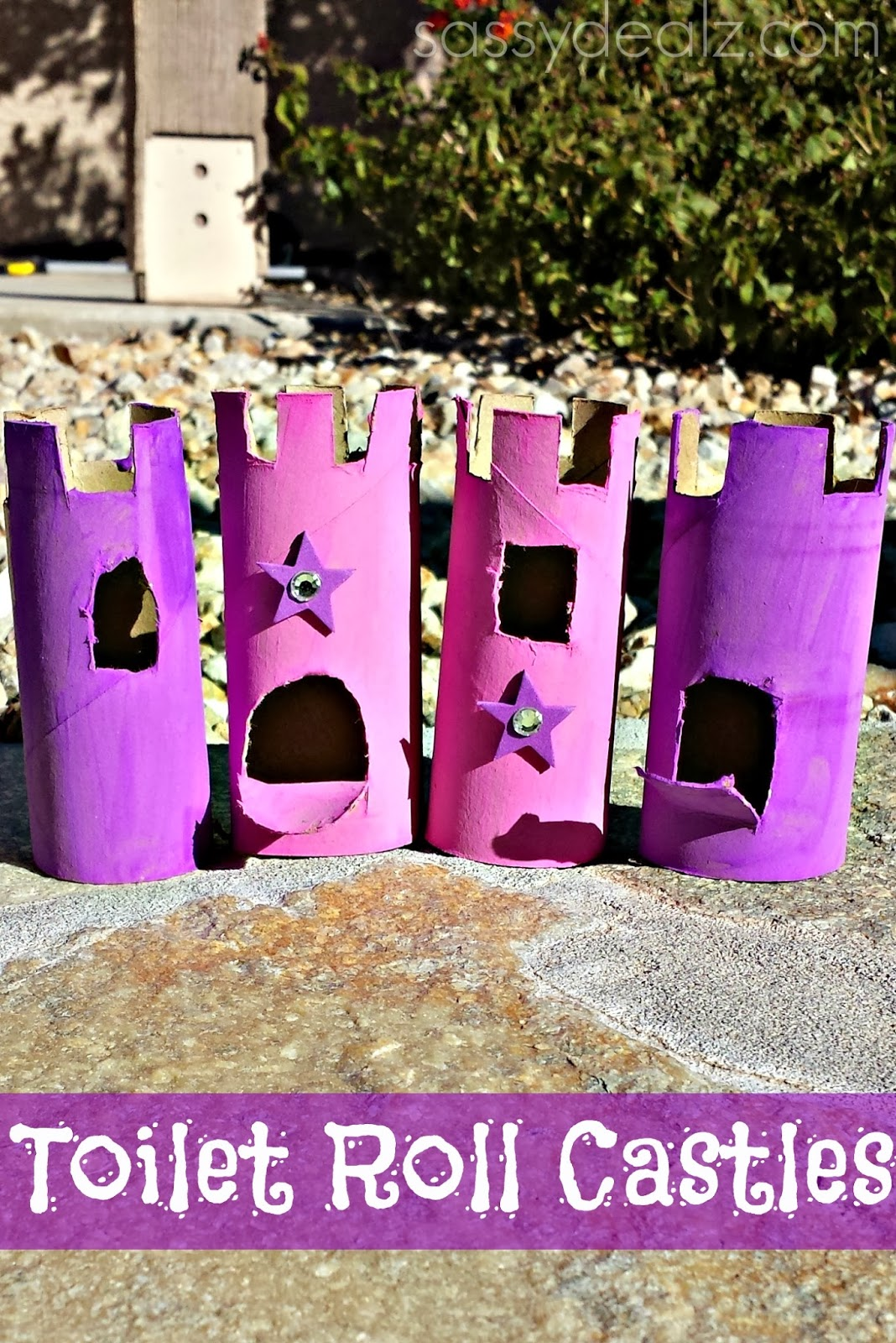 toilet paper roll castles {craft idea for kids} - crafty morning