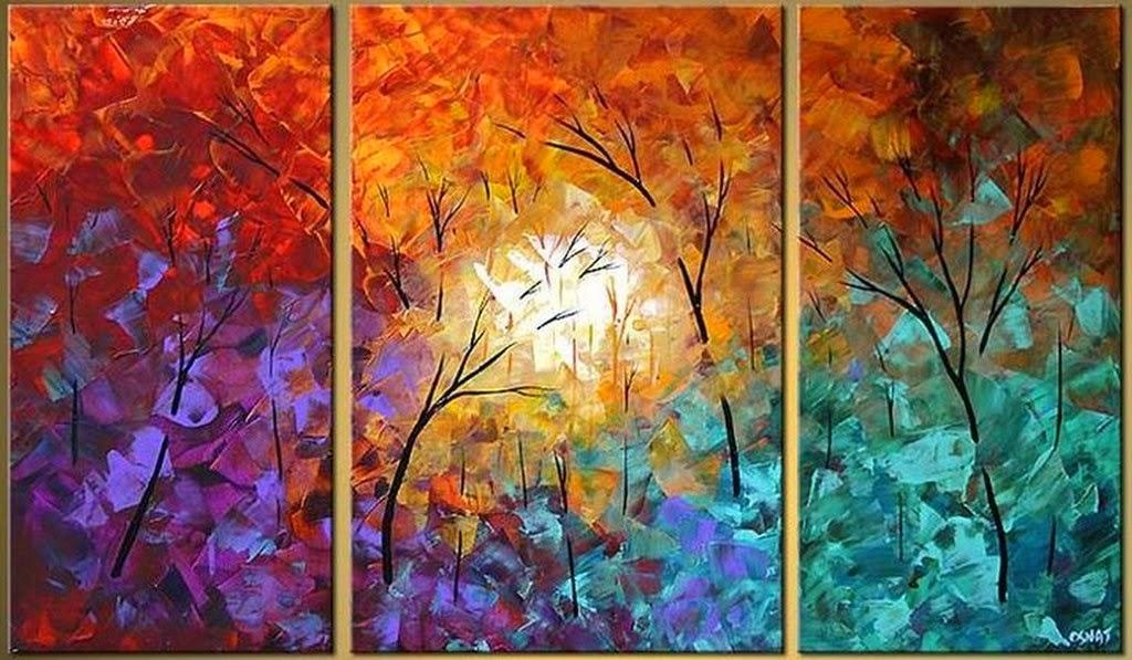Cuadros modernos pinturas y dibujos 30 cuadros tr pticos - Ver cuadros modernos ...