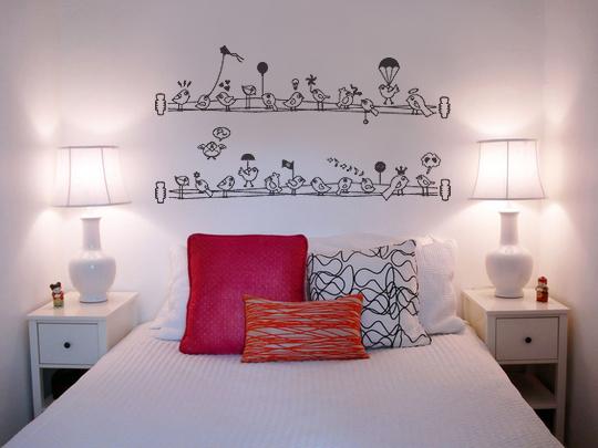 Dicas de decoração para quarto feminino MAIS ESTILOSA ~ Adesivos De Parede Para Quarto Galhos