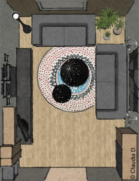 Your room progetto di una zona living rooms for Arredare zona living
