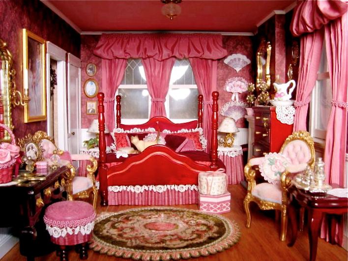 Blukatkraft Victorian Dollhouse Bedroom And Bathroom Scale