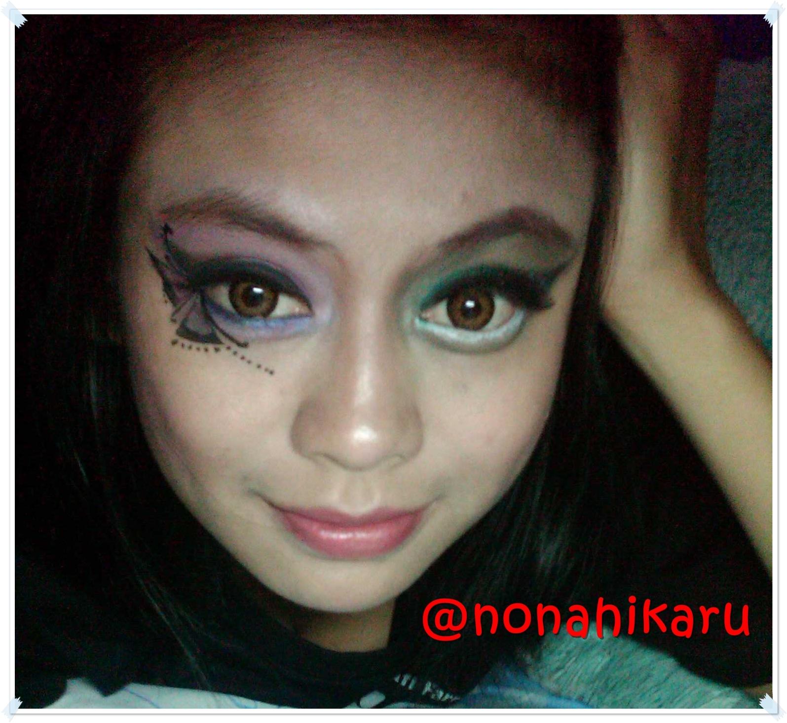 Tutorial Fantasy Makeup Blue Butterfly On Eye
