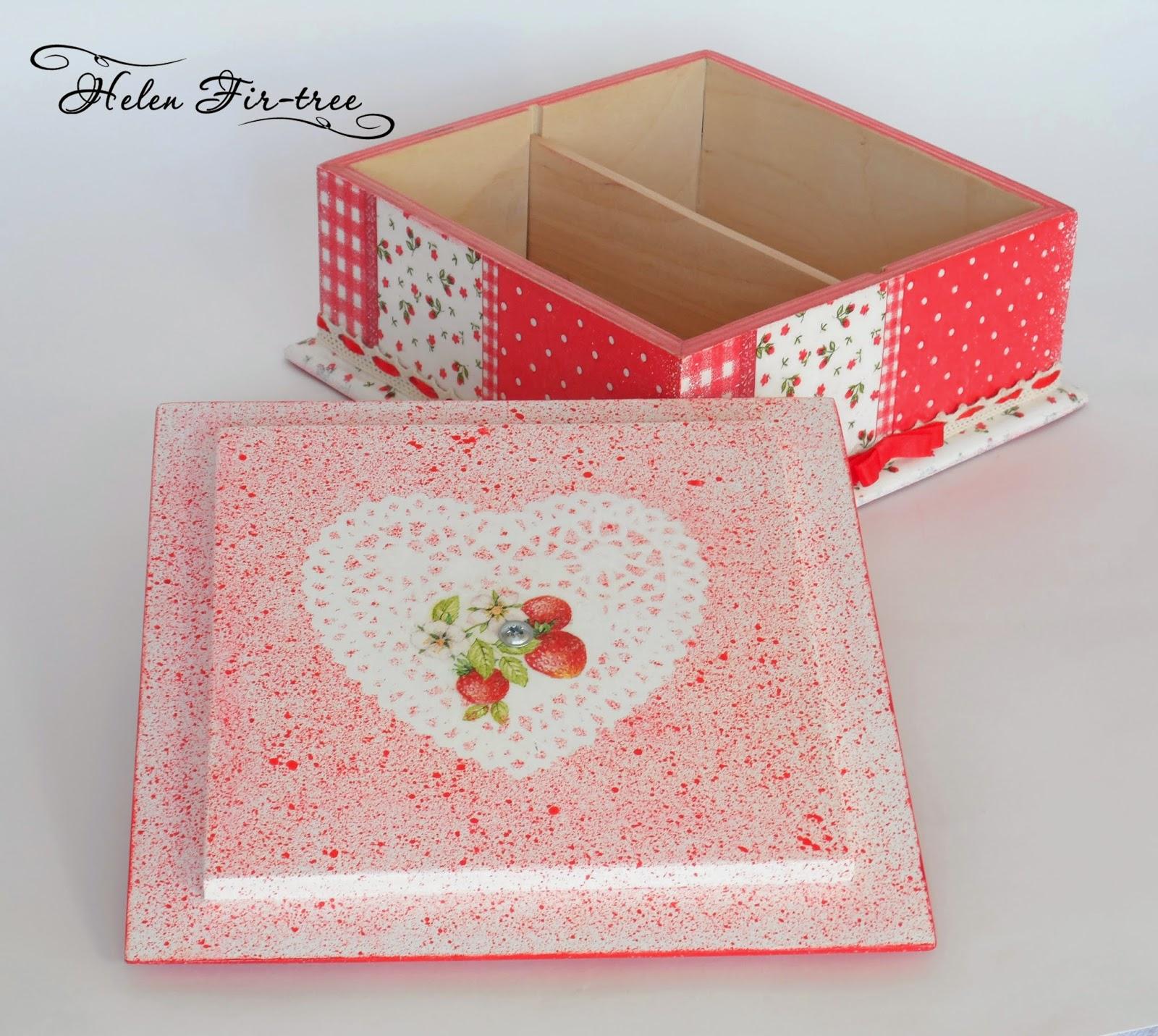 Helen Fir-tree декупаж комплект Земляничная поляна decoupage kit Strawberry Fields