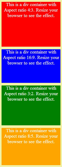 How to maintain aspect ratio in flexible or responsive layouts using CSS