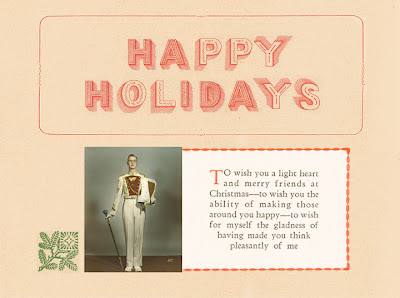 Mary Frances Foster  happy holidays handmade type