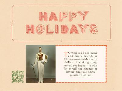 Mary Frances Foster  happy holidays handmade type