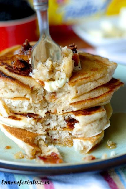 Lemons for Lulu: Cinnamon Pancakes w/ Candied Bacon