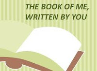 The Book of Me, Written by You Image - text as stated above a picture of an open book.