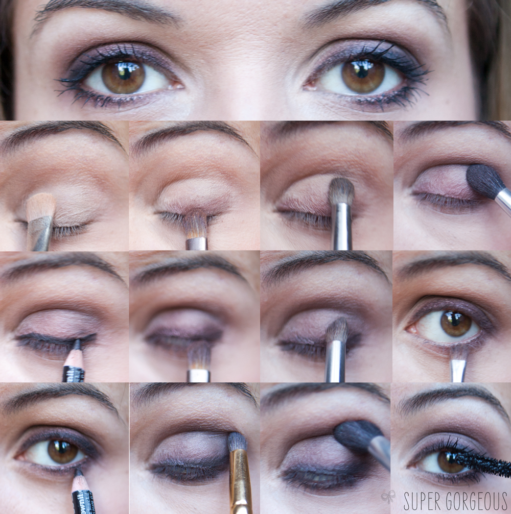 How to soft brown smokey eye tutorial super gorgeous prep the eye by patting on the light eyeshadow as a base put it all the way up to the socket and in the inner corners of your eye this baditri Images