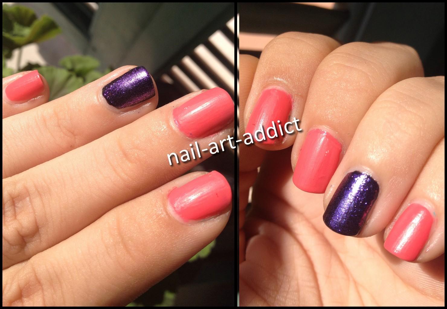 nail art beauty addict nail art bicolore mat. Black Bedroom Furniture Sets. Home Design Ideas