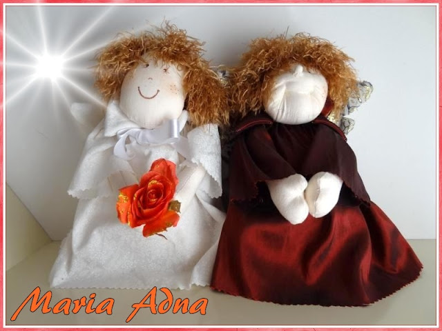 Anjos-tecido, anjos de pano, textile angels, fabric angels, angels dolls, decorative angels, decorative textile angels,