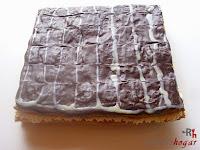 Milhoja de crema pastelera, nata y chocolate-final
