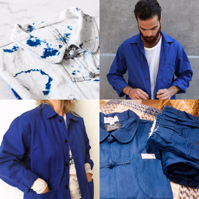 le moleskine de capucine bleu de travail blue craft jacket. Black Bedroom Furniture Sets. Home Design Ideas