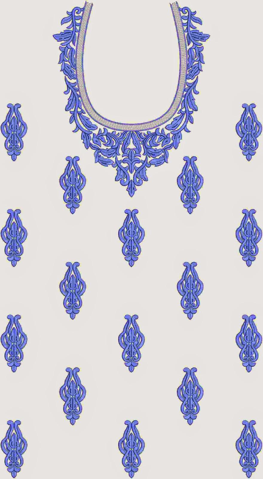 blou kleur Kurti rok