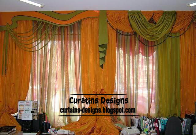 Best orange curtain design ideas for modern bedroom