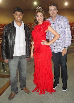 Vereador Marquinho, a Miss Volta Redonda Izadora Meira e Andrey Lara