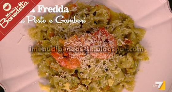 Pasta Fredda al Pesto e Gamberi di Benedetta Parodi