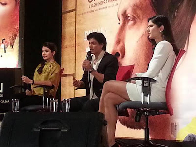 SRK, Katrina Kaif and Anushka at a press conference at YRF Studios!