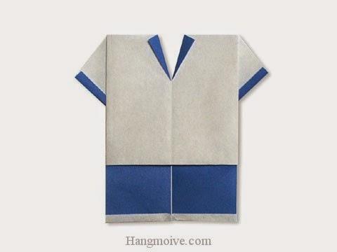 Cách gấp, xếp quần áo cầu thủ bằng giấy origami - Video hướng dẫn xếp hình quần áo - How to fold a Soccer Wear