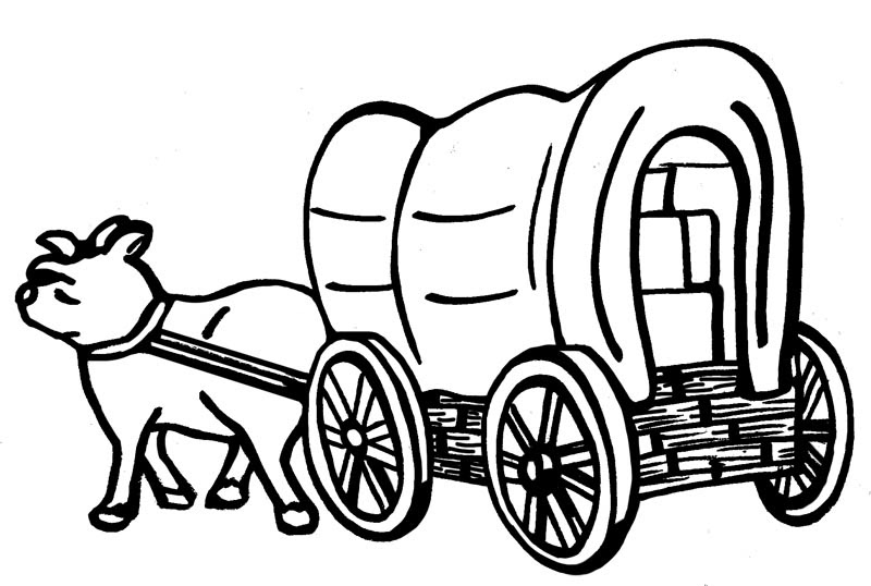 LDSFiles Clipart: Covered Wagon for Pioneer