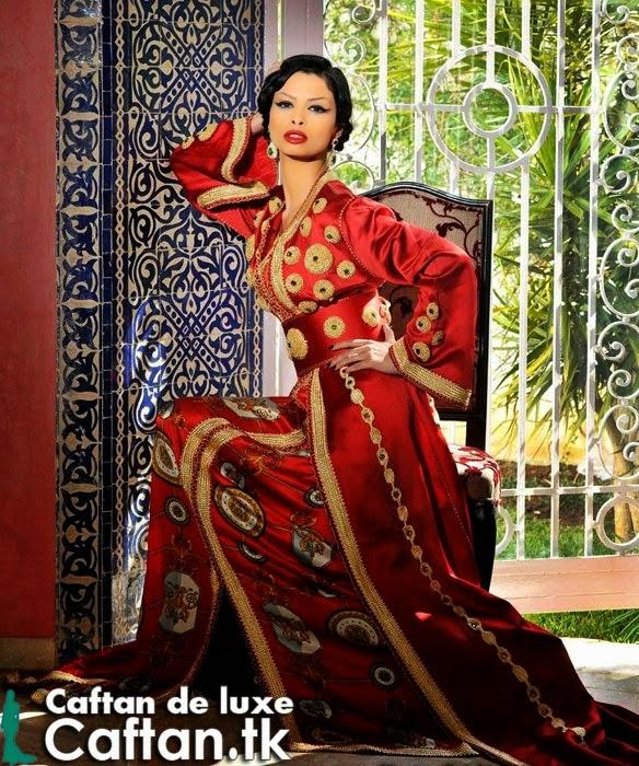 Caftan 2014 | Robe de soirée rouge pas cher