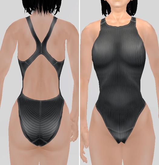 競泳水着の流線