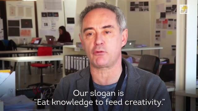 Ferran Adrià comer conocimiento para alimentar la creatividad