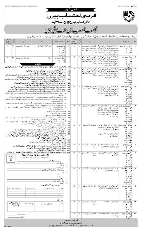 National Accountability Bureau Jobs