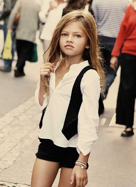10-year-old Parisian with a pout some say rivals that of supermodels ...
