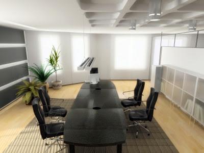 interior kantor modern-terang