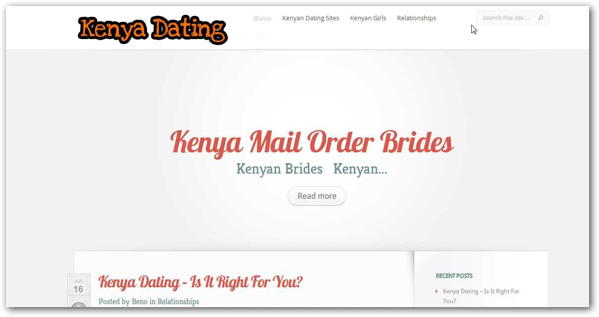 Dating sites in kenya in Australia