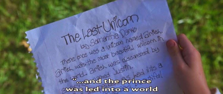 lettre licorne Iscomigoo dans Donnie Darko