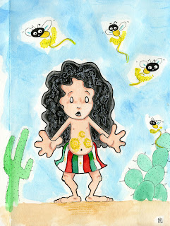 pepita, mexican girl, eating fireflies, firefly